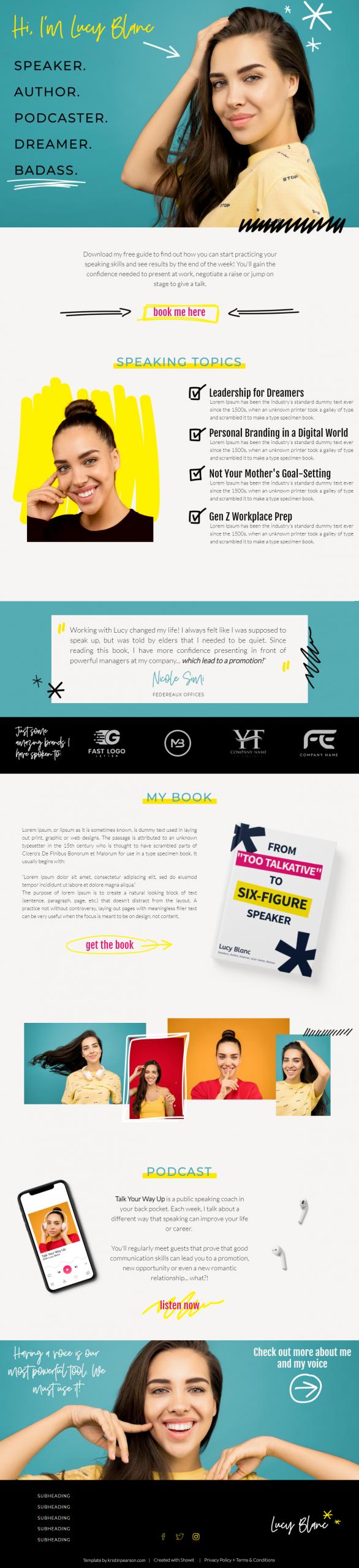 bold website design example